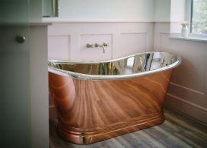 BC Designs - Copper/Nickel Freestanding Boat Bath - 1500mm x 725mm