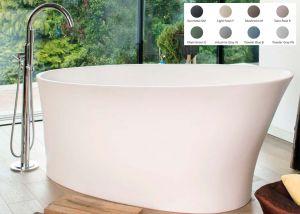 BC Designs - Delicata Cian® Stone Bath - 1520mm x 715mm (Various Colours)