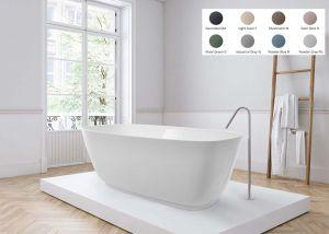 BC Designs Divita - Cian® Stone Bath - 1495mm x 720mm (Various Colours)
