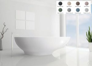 BC Designs - Gio Cian® Stone Bath - 1645mm x 935mm (Various Colours)