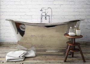 BC Designs - Nickel Freestanding Boat Bath - 1500mm x 725mm