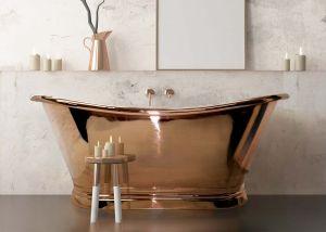 BC Designs - Copper Freestanding Boat Bath - 1500mm x 725mm