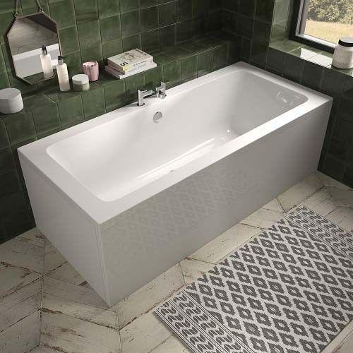 Lux Bath - Aluna Double Ended Bath - 1700mm x 750mm - White