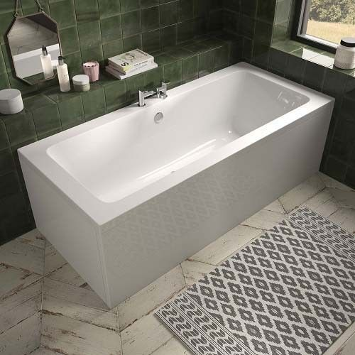 Lux Bath - Aluna Double Ended Bath - 1800mm x 800mm - White