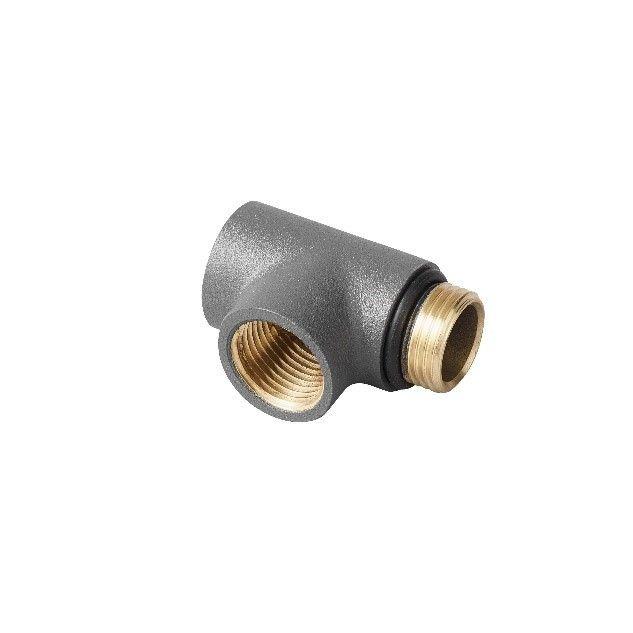 Anthracite Dual Fuel T Piece