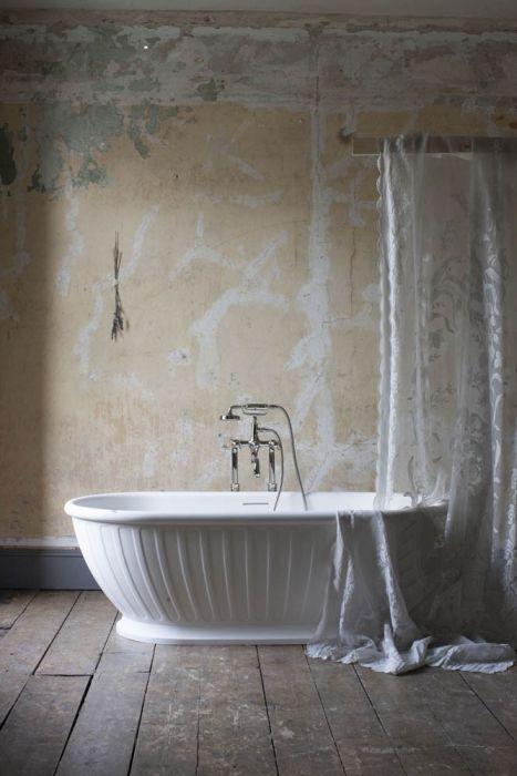 Burlington - Albany Freestanding Natural Stone Bath - White - 1690mm x 800mm