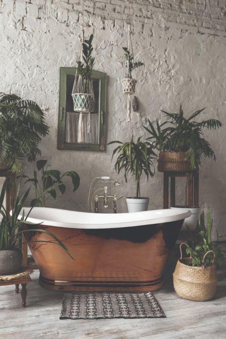 BC Designs - Enamel Inner/Copper Outer Boat Bath - 1700mm x 725mm
