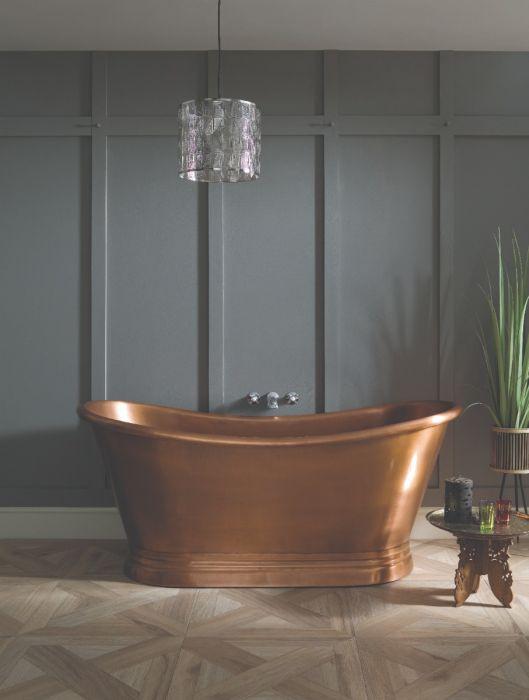 BC Designs - Copper Inner/Antique Copper Outer Boat Bath - 1500mm x 700mm