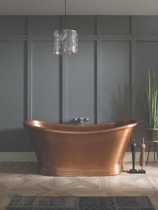 BC Designs - Copper Inner/Antique Copper Outer Boat Bath - 1700mm x 725mm