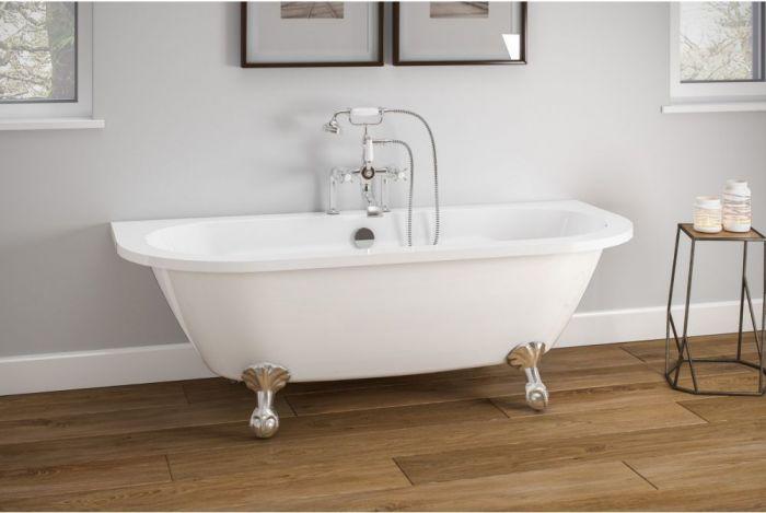 Royce Morgan - Balmoral D Shaped Bath - 1680mm x 730mm