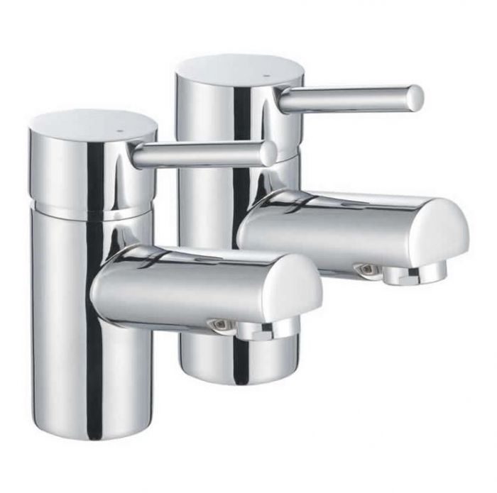 Lux Bath - Pin Bath Pillar Taps - Chrome