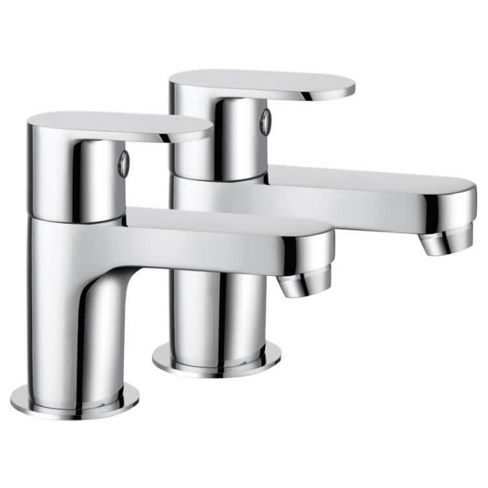 Lux Bath - Bath Pillar Taps - Chrome