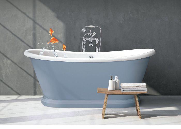 BC Designs Acrylic Boat Bath - 1580mm x 750mm