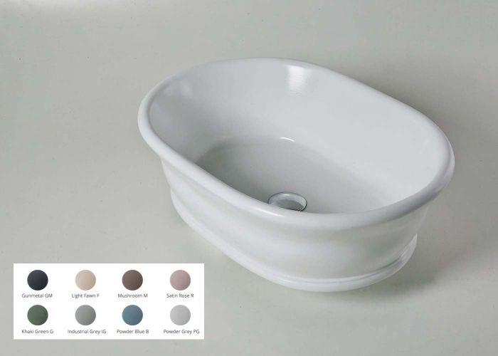 BC Designs - Aurelius/Bampton Cian® Stone Basin - 535mm x 390mm (Various Colours)