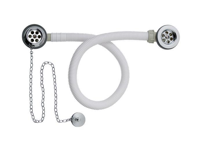BC Designs Concealed Plug & Chain Bath Waste