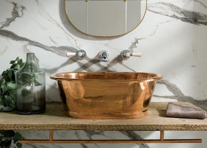 BC Designs - Copper Basin - 530mm x 345mm