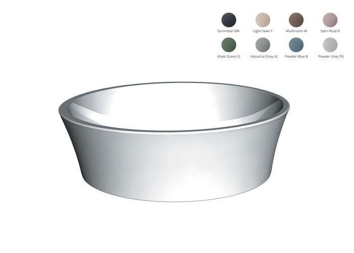 BC Designs - Delicata Basin Cian® Stone Basin - 530mm x 360mm (Various Colours)