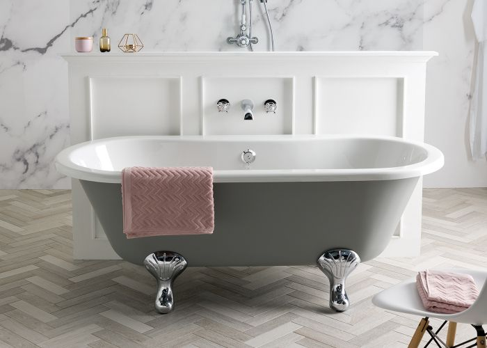 BC Designs Elmstead - Roll Top Bath - 1700mm x 745mm