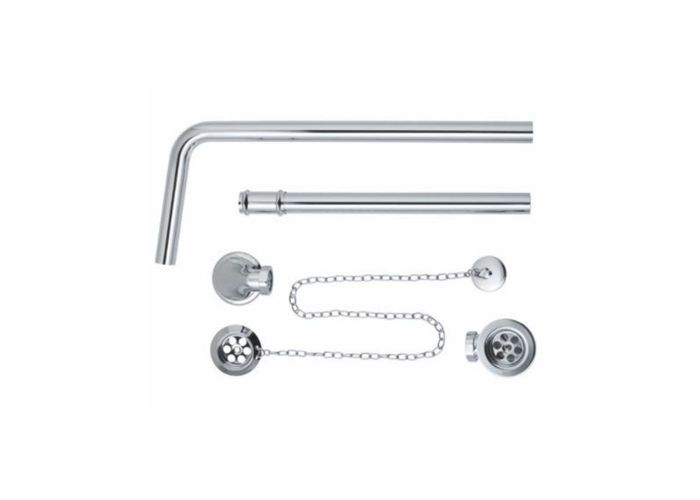 BC Designs Exposed Bath/Plug & Chain With Overflow Pipe