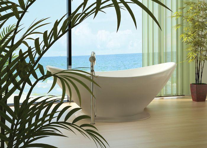 BC Designs Kurv With Plinth - Cian® Stone Bath - 1890mm x 900mm