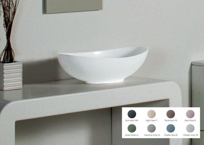 BC Designs - Kurv  Cian® Stone Basin - 615mm x 360mm (Various Colours)