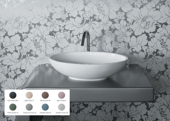 BC Designs - Gio/Tasse Cian® Stone Basin - 575mm x 345mm (Various Colours)