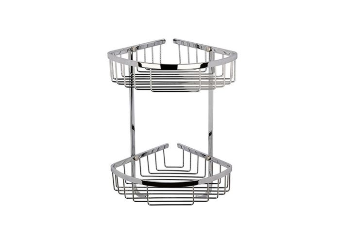 BC Designs Victrion Double Corner Shower Basket