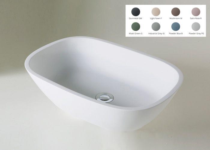 BC Designs - Crea/Vive Cian® Stone Basin - 530mm x 360mm (Various Colours)