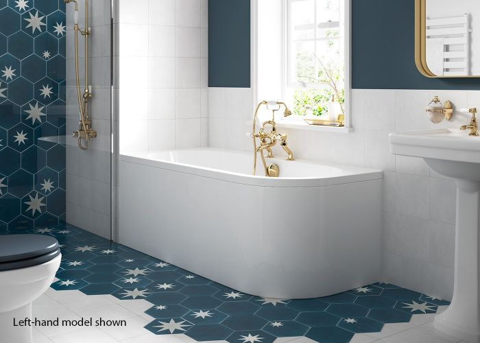 BC SolidBlue - Amerina - Reversible Curved Panel