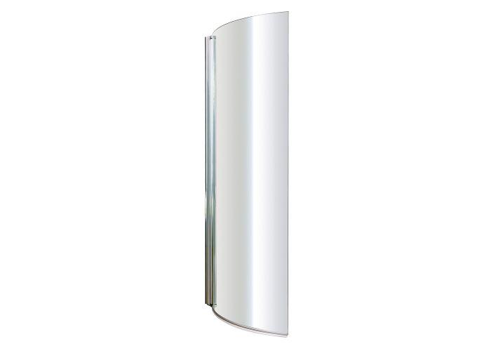 BC SolidBlue - Curved P Bath Screen - 1435mm x 720mm