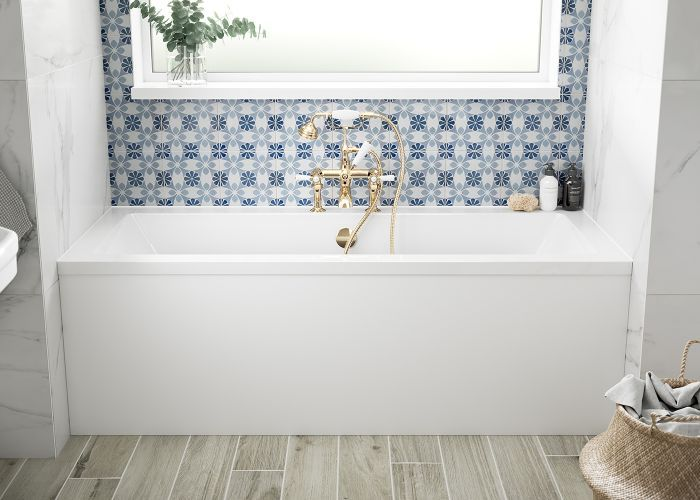 BC SolidBlue - Durham Double Ended Bath - 1700mm x 700mm