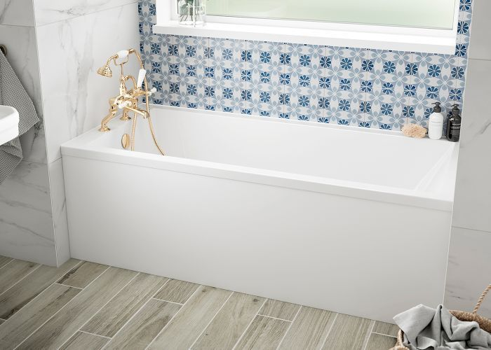 BC SolidBlue - Durham Single Ended Bath - 1600mm x 750mm