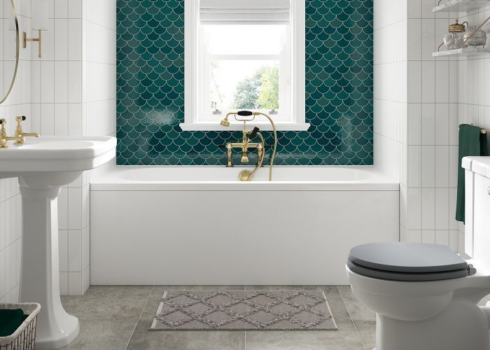 BC SolidBlue - Lambert Double Ended Bath -1800mm x 800mm