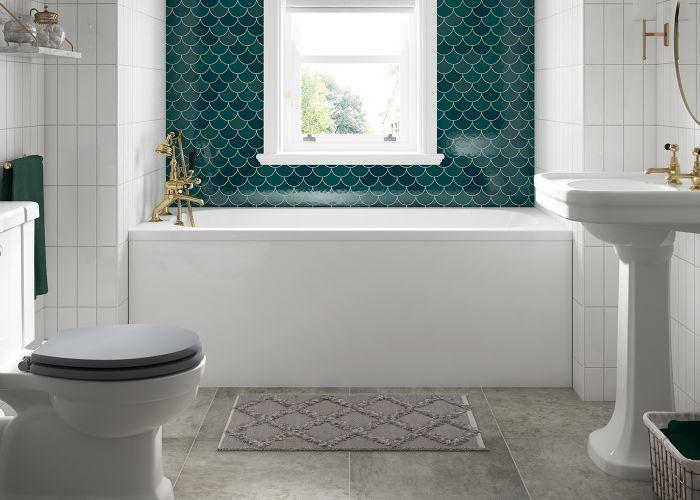 BC SolidBlue - Modica Single Ended Bath - 1675mm x 700mm