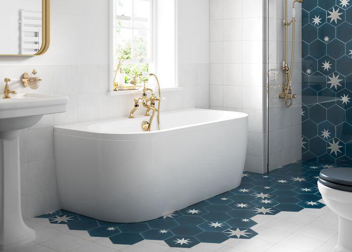 BC SolidBlue - Monreale Bath Panel