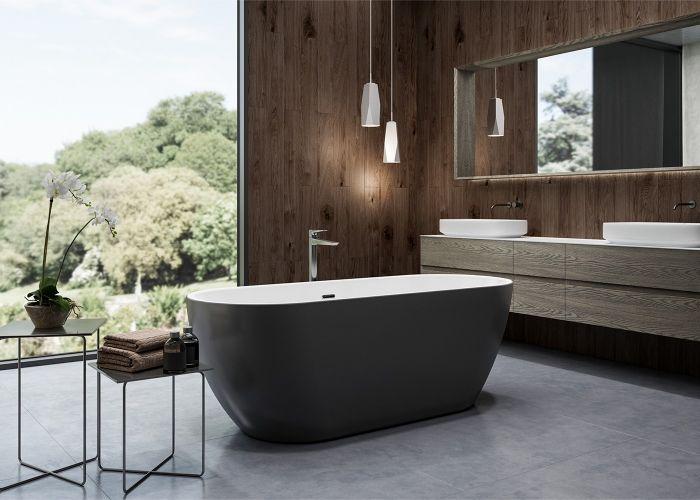 Image of Charlotte Edwards Belgravia Bath in Gloss Black