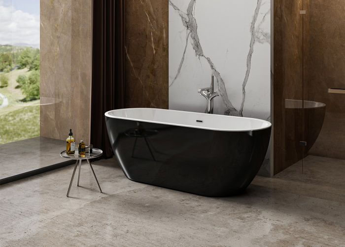 Image of Charlotte Edwards Belgravia Bath in Gloss Black