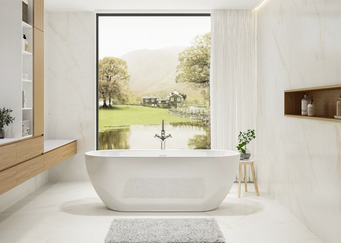 Image of Charlotte Edwards Belgravia Bath in Gloss White
