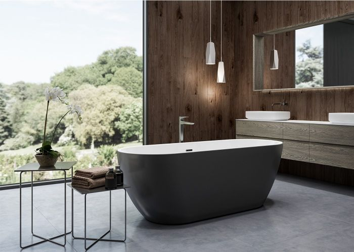 Image of Charlotte Edwards Belgravia Bath in Matt Black