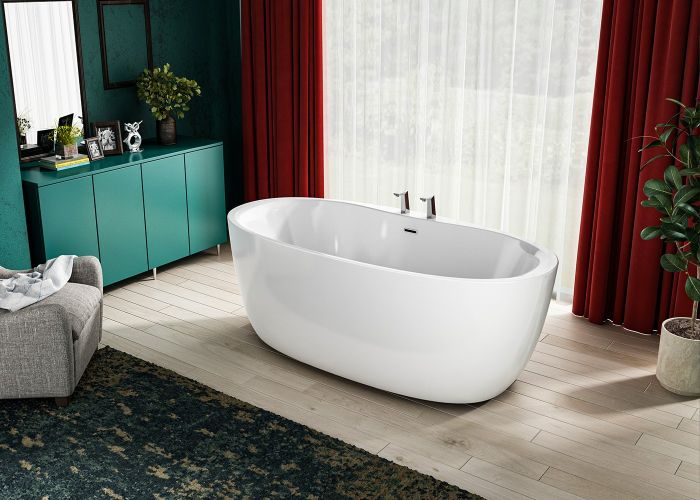 Image of Charlotte Edwards Solar Bath in Gloss White