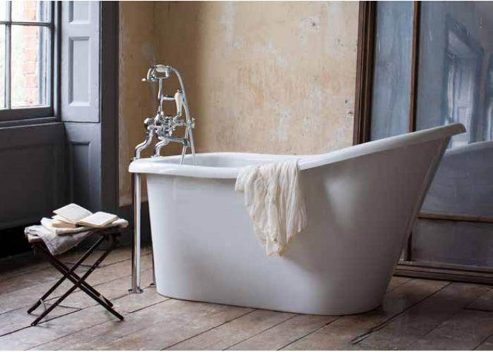 Burlington - Emperor Slipper Bath White - 1530mm x 725mm