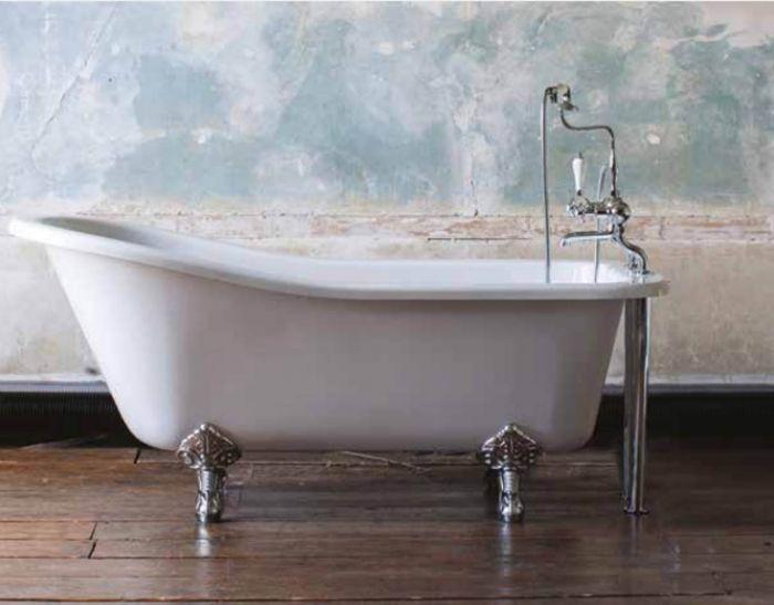 Burlington - Harewood Slipper Bath - White - 1690mm x 730mm