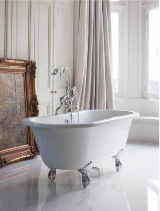 Burlington - Windsor Double-Ended Bath - White - 1500mm x 750mm