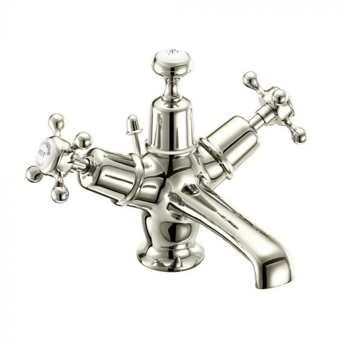Burlington - Basin Mixer With High Central Indice With Pop Up Waste - Nickel