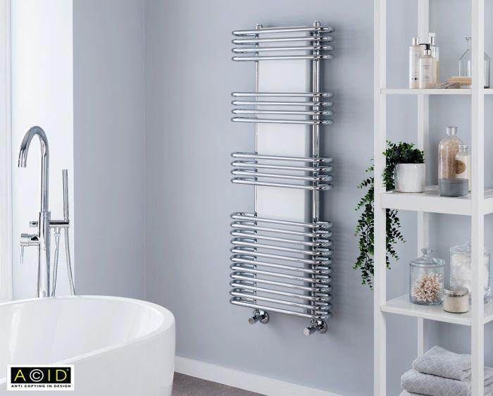 Vogue Cygnus Harmonique Chrome Towel Radiator