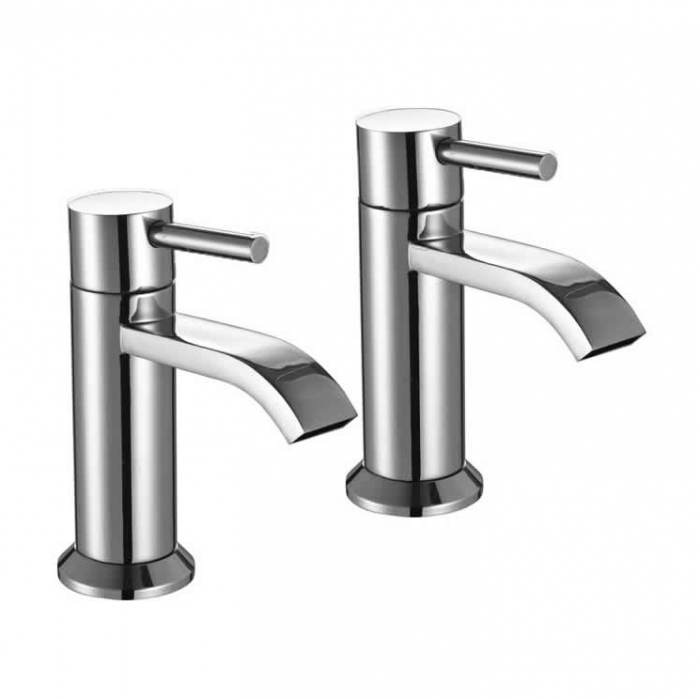 Lux Bath - Fall Basin Pillar Taps - Chrome