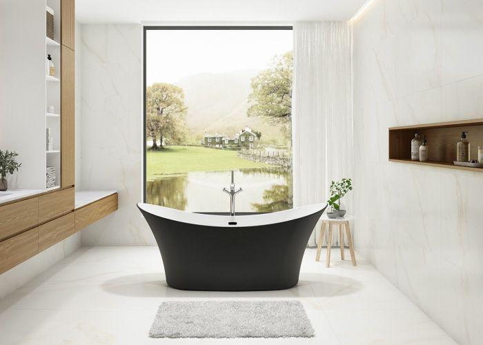 Image of Charlotte Edwards Harrow Bath in Matt Black