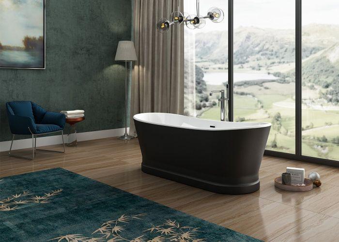 Image of Charlotte Edwards Jupiter Bath in Matt Black