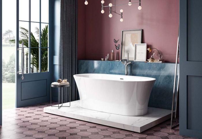 Image of Charlotte Edwards Luna Bath in Gloss White
