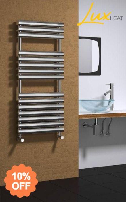 Lux Heat Monaco Vertical Stainless Steel Towel Radiator
